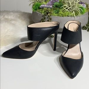 Express Faux Leather Strappy 3 in Heel Mule